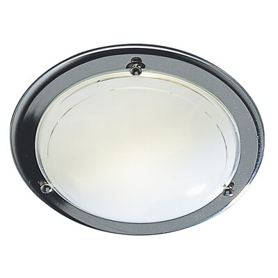 Dar Lighting Disc 1 Light Flush Ceiling Light