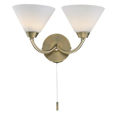 Dar Lighting Henley 2 Light Semi-Flush Wall Light