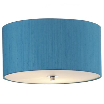 Dar Lighting 40cm Renoir Silk Drum Lamp Shade