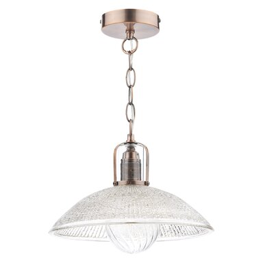 Dar Lighting May 1 Light Bowl Pendant