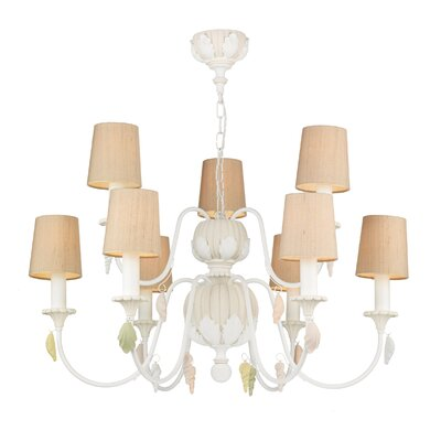 Dar Lighting Cavendish 9 Light Candle Chandelier