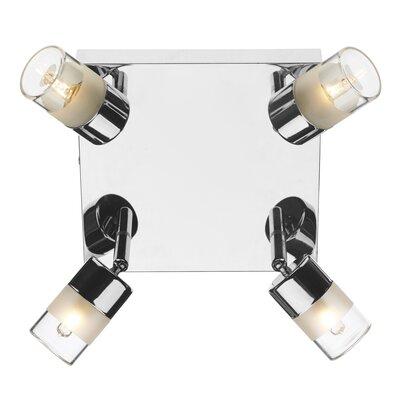 Dar Lighting Artemis 4 Light Semi-Flush Wall Light