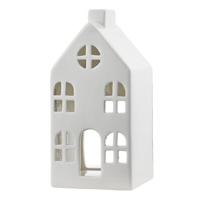 Dar Lighting Ceramic House Tealight Holder