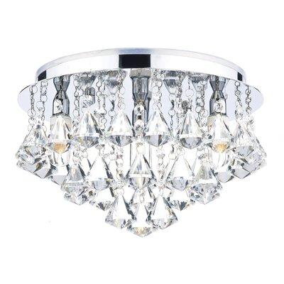 Dar Lighting Fringe 4 Light Semi-Flush Ceiling Light