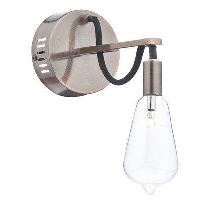 Dar Lighting Scroll 1 Light Semi-Flush Wall Light