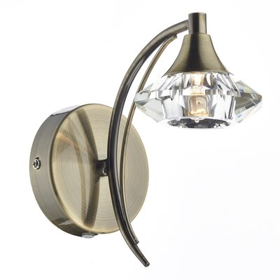 Dar Lighting Luther 1 Light Semi-Flush Wall Light