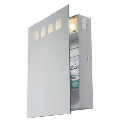 Dar Lighting Zeus 45cm x 55cm Surface Mount Mirror Cabinet