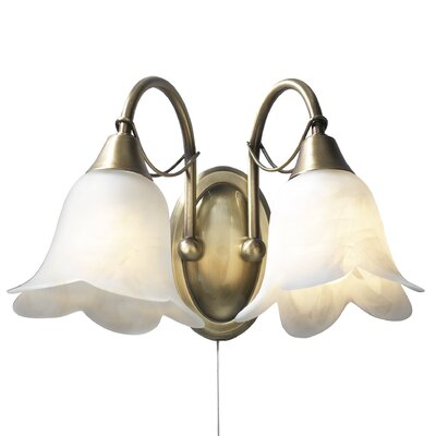 Dar Lighting Doublet 2 Light Semi-Flush Wall Light