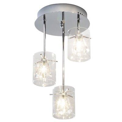 Dar Lighting Somerset 3 Light Drum Pendant