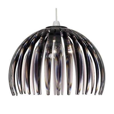 Dar Lighting Alvin Acrylic 1 Light Bowl Pendant