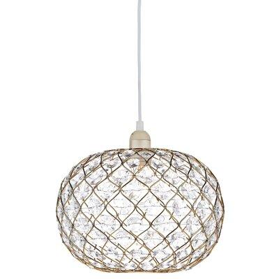 Dar Lighting 28cm Juanita Glass Oval Pendant Shade
