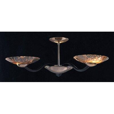 Dar Lighting Dark Marble Glass for David Hunt Savoy Dumas Semi Flush Mount