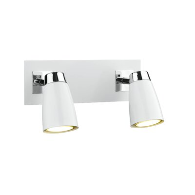 Dar Lighting Loft 2 Light Wall Spotlight