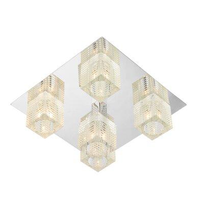 Dar Lighting Oswald 5 Light Semi-Flush Ceiling Light
