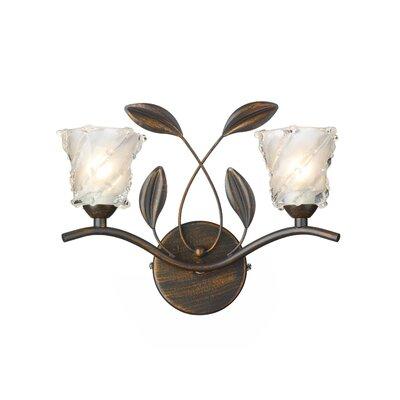 Dar Lighting Prunella 2 Light Semi-Flush Wall Light
