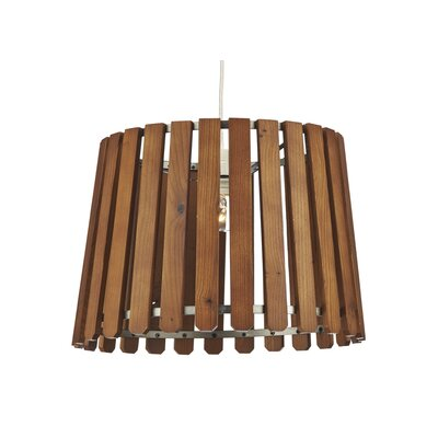 Dar Lighting Fence 1 Light Drum Pendant