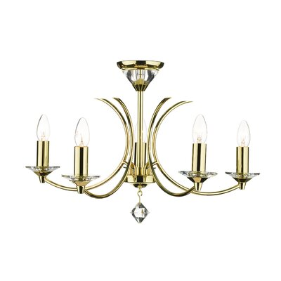 Dar Lighting Medusa 5 Light Candle Chandelier