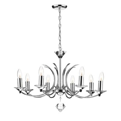 Dar Lighting Medusa 8 Light Candle Chandelier