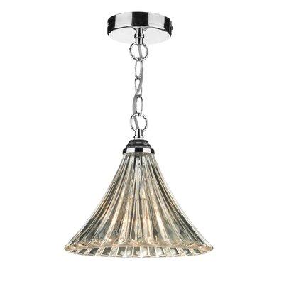 Dar Lighting Ardeche Fluted 1 Light Mini Pendant