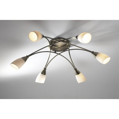 Dar Lighting Bureau 6 Light Semi-Flush Ceiling Light
