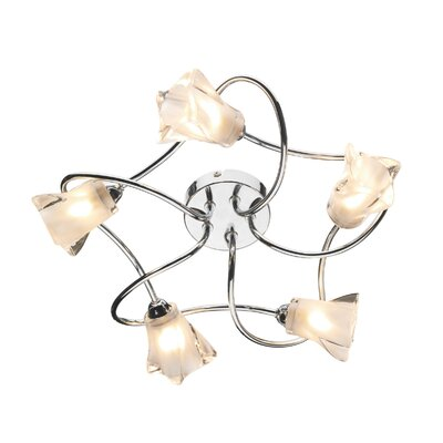 Dar Lighting Cicero 5 Light Semi-Flush Ceiling Light