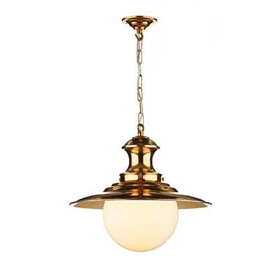 Dar Lighting Station Lamp 1 Light Globe Pendant
