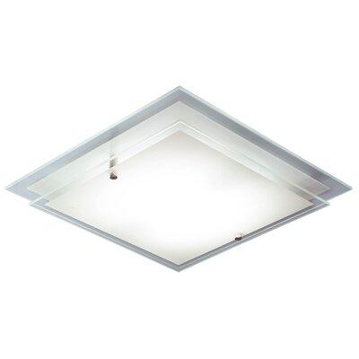 Dar Lighting Frame 1 Light Flush Ceiling Light