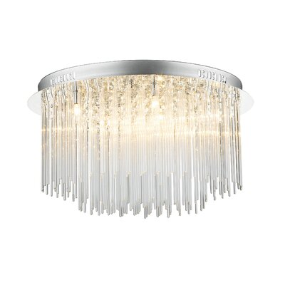 Dar Lighting 8 Light Flush Ceiling Light