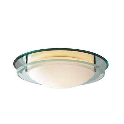 Dar Lighting Osis 1 Light Flush Ceiling Light