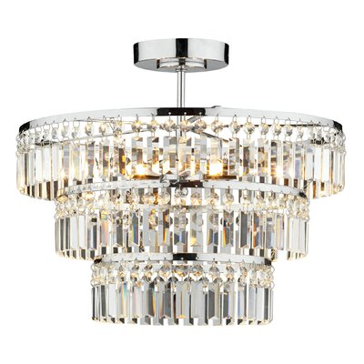 Dar Lighting Rowena 5 Light Semi-Flush Ceiling Light