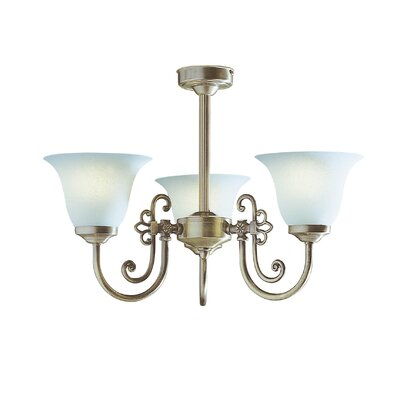 Dar Lighting Woodstock 3 Light Mini Chandelier