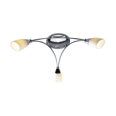 Dar Lighting Bureau 3 Light Semi-Flush Ceiling Light