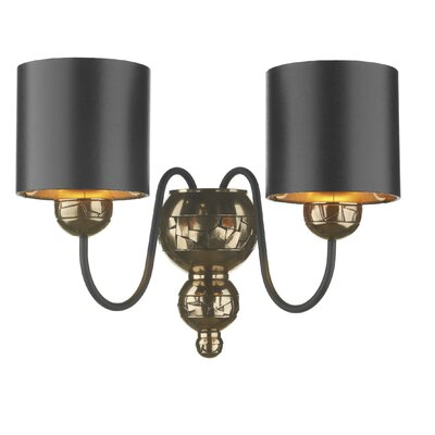 Dar Lighting Garbo 2 Light Semi-Flush Wall Light