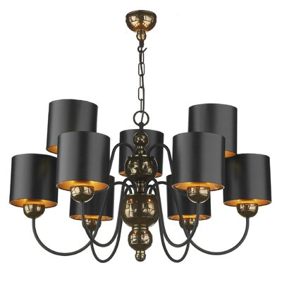 Dar Lighting Garbo 9 Light Chandelier