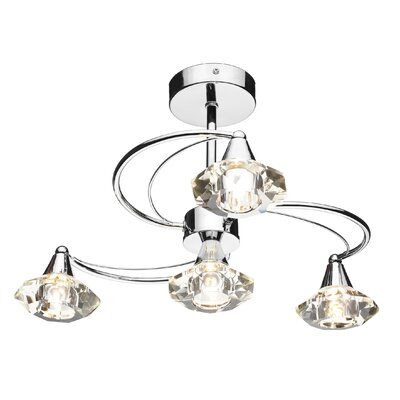 Dar Lighting Luther 4 Light Semi-Flush Ceiling Light