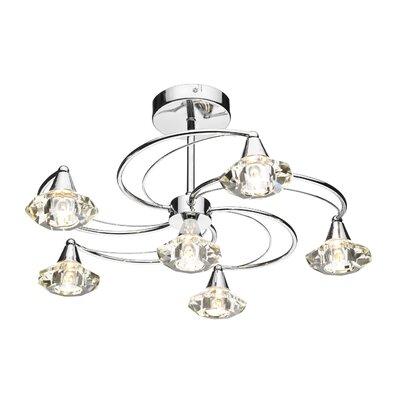 Dar Lighting Luther 6 Light Semi-Flush Ceiling Light