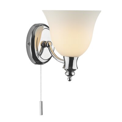 Dar Lighting Oboe 1 Light Semi-Flush Wall Light