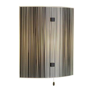 Dar Lighting Swirl 1 Light Flush Wall Light