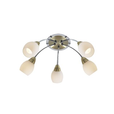Dar Lighting Tempo 5 Light Semi-Flush Ceiling Light