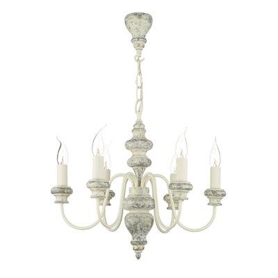 Dar Lighting Florence 6 Light Candle Chandelier