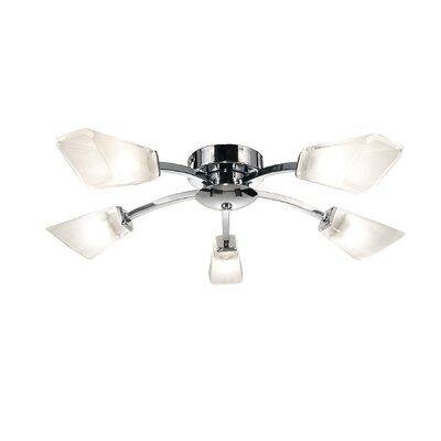 Dar Lighting Wolsey 5 Light Semi-Flush Ceiling Light