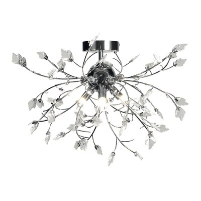 Dar Lighting Rowan 3 Light Semi-Flush Ceiling Light
