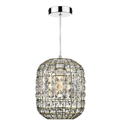 Dar Lighting Zing 1 Light Drum Pendant