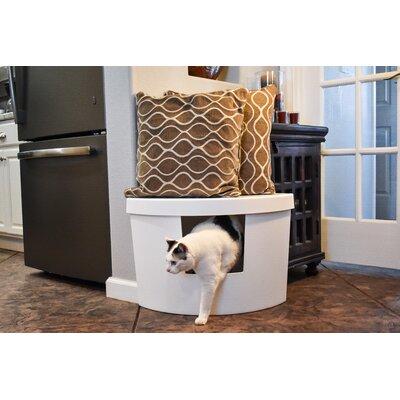 Corner Kitty Modern Litter Box Color: White