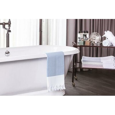 Didyma Turkish Cotton Hand Towel Color: Navy Blue