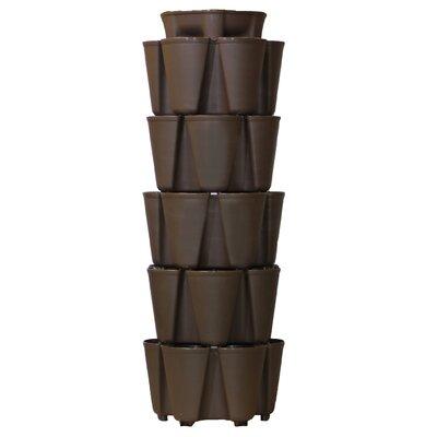 5 Tier Plastic Vertical Planter Color: Chocolate Brown