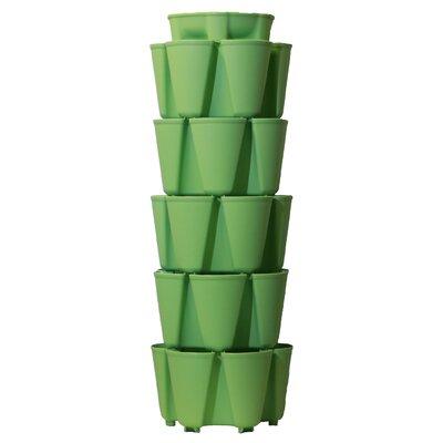 5 Tier Plastic Vertical Planter Color: Luscious Green