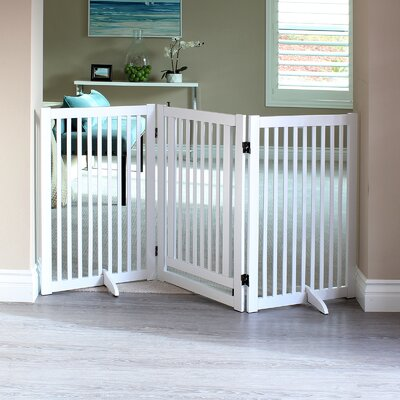 Griffin Pet Gate with Small Door Finish: White