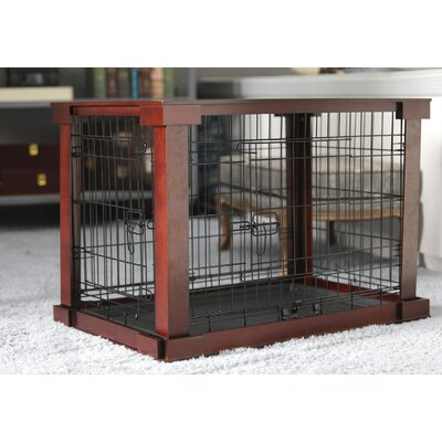 """Ansel Deluxe Pet Crate in Brown Size: Small (19"""" H x 18"""" W x 24"""" L)"""