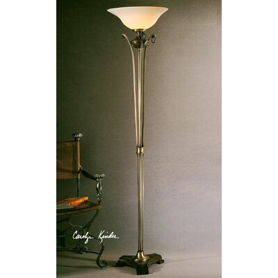 Uttermost Burnished Wood 72 Quot Torchiere Floor Lamp